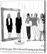 The Divorce Suit Canvas Print