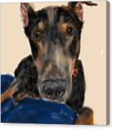 The Doberman Canvas Print
