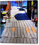 The Dock At Hill's Resort Canvas Print