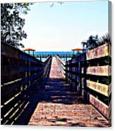 The Dock At Lake George  Canvas Print