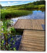 The Dock At Mountainman Canvas Print
