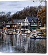 The Docks At Boathouse Row - Philadelphia Canvas Print