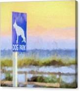 The Dog Park On Pensacola Beach Canvas Print