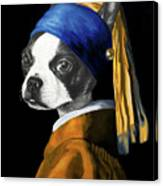 The Dog With A Pearl Earring Canvas Print