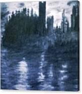 The Dolceacque Castle In Pencil Canvas Print