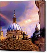 The Domes Of Immaculate Conception, Cuenca, Ecuador Canvas Print