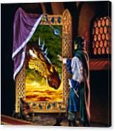 The Dragon Mirror Canvas Print