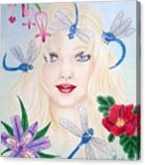 The Dragonfly Girl Canvas Print