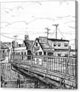 The Drawbridge As Seen From Pjs Canvas Print