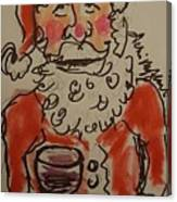 The Drunken Santa Canvas Print