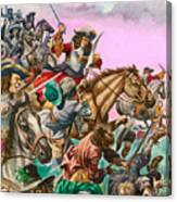 The Duke Of Monmouth At The Battle Of Sedgemoor Canvas Print