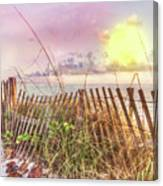 The Dunes In Watercolors Canvas Print