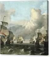 The Dutch Fleet Of The India Company Canvas Print