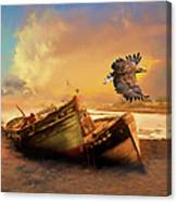 The Eagle And The Boat Canvas Print