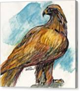 The Eagle Drawing Canvas Print