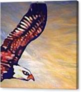 The Eagle Or The Great Thunderbird Spirit In The Sky Canvas Print