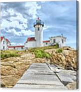 The Eastern Point Lighthouse In Gloucester Canvas Print