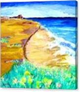 The Edge Of The Sea Canvas Print