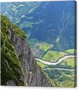 The Edge Of The Precipice Canvas Print