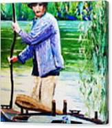 The Eel Catcher Canvas Print