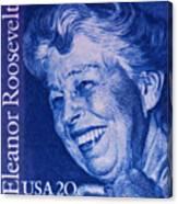 The Eleanor Roosevelt Stamp Canvas Print