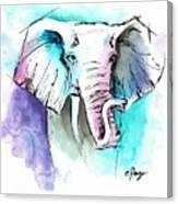The Elephant King Canvas Print