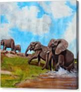 The Elephants Rise Canvas Print