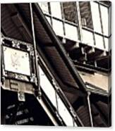 The Elevated Station At 125th Street 2 Canvas Print