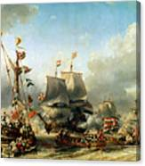 The Embarkation Of Ruyter And William De Witt In 1667 Canvas Print