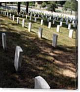 Arlington Tombstones Shade And Light Canvas Print