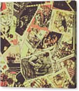 The English Postage Scene Canvas Print