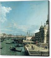 The Entrance To The Grand Canal And The Church Of Santa Maria Della Salute Canvas Print