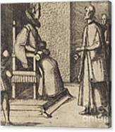 The Envoy Of Tuscany Thanking The Queen [verso] Canvas Print