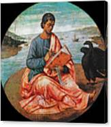 The Evangelist John At Patmos Canvas Print