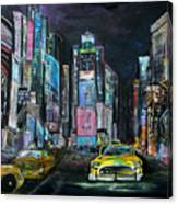 The Evening Of Time Square Canvas Print