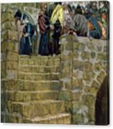 The Evil Counsel Of Caiaphas Canvas Print
