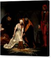 The Execution Of Lady Jane Grey In The Tower Of London In The Year 1554 Canvas Print