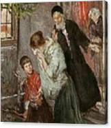 The Expulsion Of Hagar Canvas Print