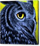 The Eye Of The Owl -the  Goobe Series Canvas Print