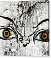 The Eyes Of Guru Rimpoche  Canvas Print