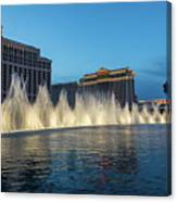 The Fabulous Fountains At Bellagio - Las Vegas Canvas Print
