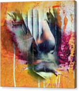 The Face At The Wall Canvas Print
