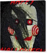 The Face Halloween Card Canvas Print