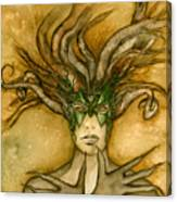 The Face Of Dryad Canvas Print