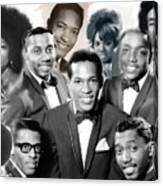 The Faces Of Motown Canvas Print