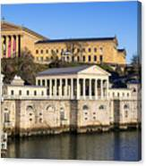 The Fairmount Water Works And Art Museum Canvas Print