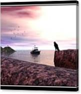 The Falcon At The Beach Canvas Print