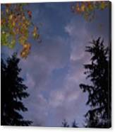 The Fall Evening Sky Canvas Print
