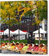 The Fall Harvest Is In Kendall Square Farmers Market Foliage Canvas Print