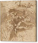 The Fall Of The Rebel Angels [recto] Canvas Print
